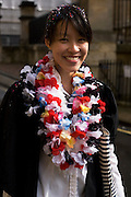 Student from Singapore celebrates her end of Chemistry Finals (exams)  at Oxford University.