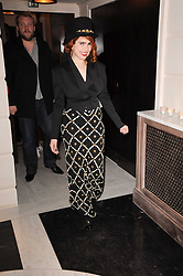 PALOMA FAITH at a dinner hosted by jewellers Damiani at The Connaught Hotel, London on 3rd February 2010.