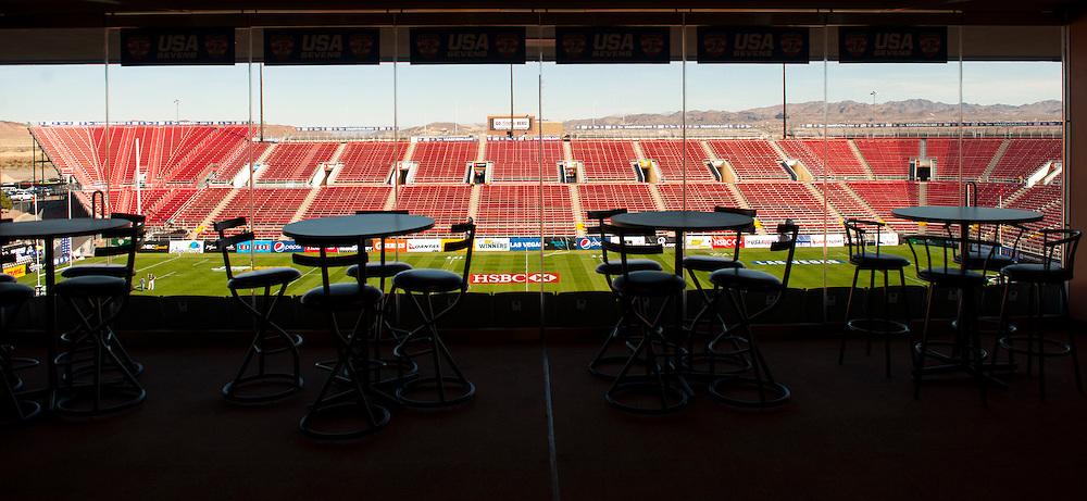 A general view of Sam Boyd Stadium in Las Vegas, Nevada. Friday February 13, 2015.<br /> <br /> COPYRIGHT © JACK MEGAW, 2015. <br /> <br /> www.jackmegaw.com
