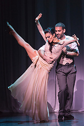 © Licensed to London News Pictures. 29/02/2016. London, UK. German Cornejo and Gisela Galeassi performing. The Argentine Tango show Immortal Tango created by German Cornejo opens at the Peacock Theatre on 1 March 2016 and runs until 19 March 2016. Photo credit: Bettina Strenske/LNP