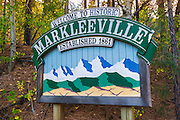 Town sign, Markleeville, California USA