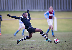 Edusport Academy Ibrahim Diallo. <br /> Whitehill Welfare 2 v 1 Edusport Academy, South Challenge Cup Quarter Final played 7/3/2015 at Ferguson Park, Carnethie Street, Rosewell.