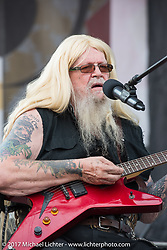 Music legend David Allan Coe plays his first free afternoon concert at the Iron Horse Saloon during the annual Sturgis Black Hills Motorcycle Rally. Sturgis, SD. USA. Saturday August 5, 2017. Photography ©2017 Michael Lichter.