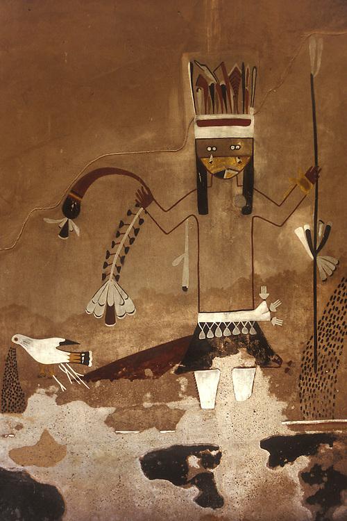 EEUU. Nuevo México. Bernalillo<br /> Mural indio en una 'kiva' (tumba india) en Coronado State Monument<br /> <br /> USA. New Mexico. Bernalillo<br /> Indian mural at a 'kiva' (indian grave) at Coronado State Monument<br /> <br /> © JOAN COSTA