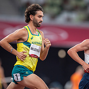 TOKYO, JAPAN August 3:   Morgan McDonald of Australia and Andrew Butchart of Great Britain in action during the Men's 5000m round one heat two race at the Olympic Stadium during the Tokyo 2020 Summer Olympic Games on August 3rd, 2021 in Tokyo, Japan. (Photo by Tim Clayton/Corbis via Getty Images)