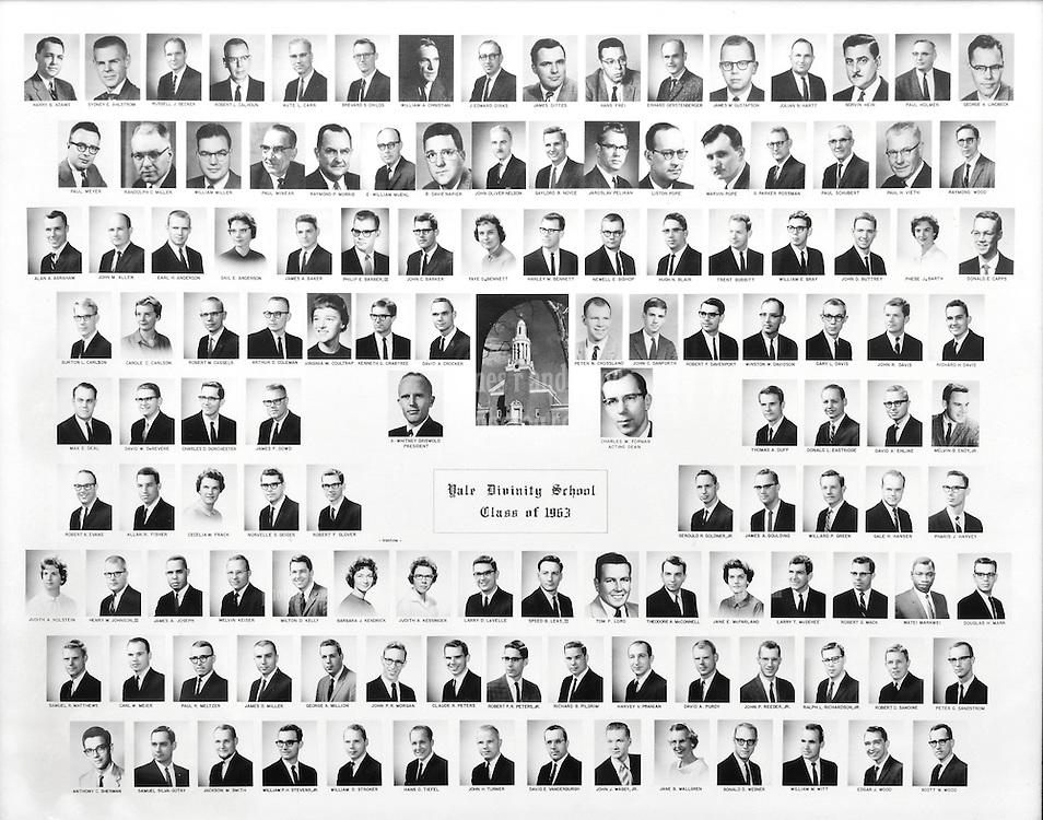 1963 Yale Divinity School Senior Portrait Class Group Photograph