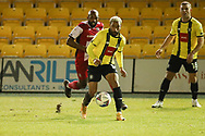 Brendan Kiernan of Harrogate Town  during the EFL Sky Bet League 2 match between Harrogate Town and Exeter City at the EnviroVent Stadium, Harrogate, United Kingdom on 19 January 2021.