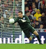 England U21/Portugal U21 European Under 21 Championship 14.11.09 <br /> Photo: Tim Parker Fotosports International<br /> Scott Loach England Under 21's 2009/10
