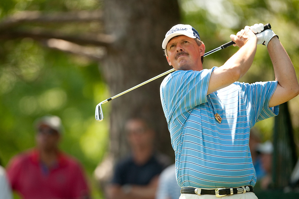 Jay Don Blake. 2009 Senior PGA Championship, Round 3. Photographed at Canterbury Golf Club in Beachwood, Ohio on Saturday, May 23 2009. Photograph © 2009 Darren Carroll