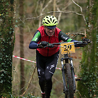 Michael Daffy competing in the Ennis CX Cyclocross Race at Lees Rd, Ennis