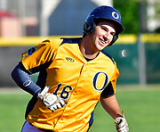 OFallon baserunner Corey Quintal is all smiles as he rounds third base after hitting a home run that won the game for his tam. OFallon defeated Granite City in the Class 4A regional baseball championship game at OFallon High School in OFallon, IL on Monday June 7, 2021. <br /> Tim Vizer/Special to STLhighschoolsports.com.