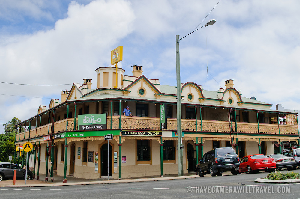 Central Hotel, an old traditional pub, in downtown Stanthorpe in Queensland's Granite Belt