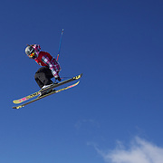 Rose Battersby, New Zealand, in action in the Women's Slopestyle Finals during The North Face Freeski Open at Snow Park, Wanaka, New Zealand, 2nd September 2011. Photo Tim Clayton...