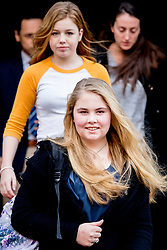 Princess Amalia leaving the Royal Palace on Dam Square for the birthday reception of Princess Beatrix. The princess celebrates her 80th birthday in private in Amsterdam, The Netherlands on February 3, 2018. Photo by Robin Utrecht/ABACAPRESS.COM