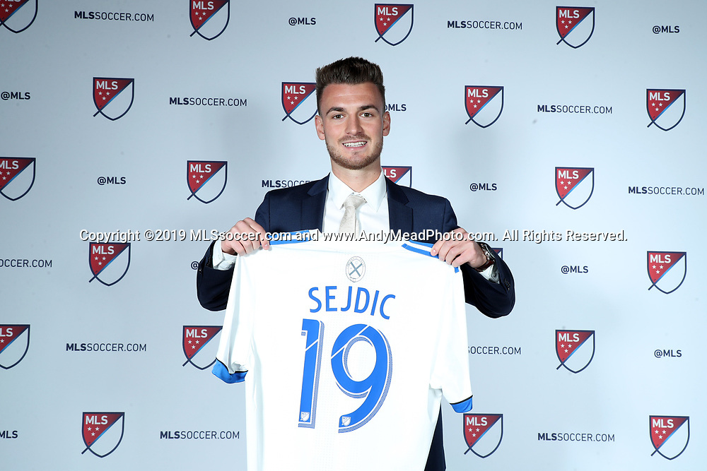 CHICAGO, IL - JANUARY 11: Amar Sejdic was taken with the 34th overall pick by the Montreal Impact. The MLS SuperDraft 2019 presented by adidas was held on January 11, 2019 at McCormick Place in Chicago, IL.