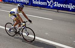 Dmitri Nikandrov of Russia (Centri Della Calzatura - Partizan) during 1st stage of the 15th Tour de Slovenie from Ljubljana to Postojna (161 km) , on June 11,2008, Slovenia. (Photo by Vid Ponikvar / Sportal Images)/ Sportida)