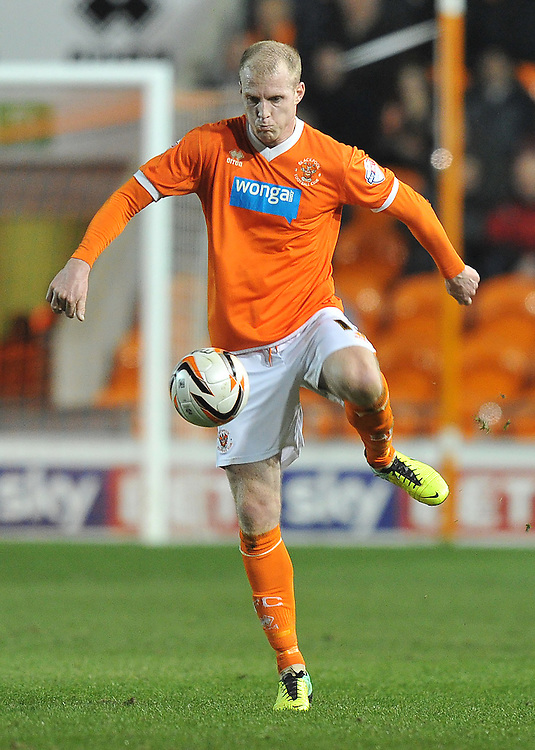 Blackpool's Neil Bishop on the ball<br /> <br /> Photo by Dave Howarth/CameraSport<br /> <br /> Football - The Football League Sky Bet Championship - Blackpool v Millwall - Tuesday 11th March 2014 - Bloomfield Road - Blackpool<br /> <br /> © CameraSport - 43 Linden Ave. Countesthorpe. Leicester. England. LE8 5PG - Tel: +44 (0) 116 277 4147 - admin@camerasport.com - www.camerasport.com