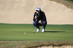 March 22, 2019 - Phoenix, AZ, U.S. - PHOENIX, AZ - MARCH 22: Austin Ernst lines up her putt on 16 during the second round of the Bank of Hope LPGA Golf Tournament at the Wildfire Golf Club at JW Marriott Phoenix Desert Ridge Resort & Spa, March 22, 2019 in Phoenix, Arizona (Photo by Will Powers/Icon Sportswire) (Credit Image: © Will Powers/Icon SMI via ZUMA Press)