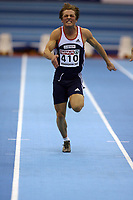 Photo: Rich Eaton.<br /> <br /> EAA European Athletics Indoor Championships, Birmingham 2007. 03/03/2007. Henrik Johnsen of Norway competes in the mens 60m
