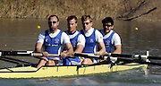 2005 FISA Team Cup, Rio Guadalquiver Rowing Course, Seville, SPAIN; GBR M4- stroke Phil Simmons, No 3 Jonno Devlin, No 2. E Johnson,bow Simon Fieldhouse, final.Photo  Peter Spurrier. .email images@intersport-images
