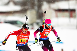 March 16, 2019 - –Stersund, Sweden - 190316 Christina Rieder of Austria and Yurie Tanaka of Japan competes in the Women's 4x6 km Relay during the IBU World Championships Biathlon on March 16, 2019 in Östersund..Photo: Johan Axelsson / BILDBYRÃ…N / Cop 245 (Credit Image: © Johan Axelsson/Bildbyran via ZUMA Press)