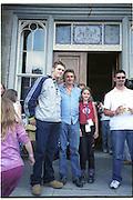 Bryan McFadden, Lord henry Mountcharles and his daughter Tamara. U2 elevation tour, Slane. Ireland. 25 August 2001. © Copyright Photograph by Dafydd Jones 66 Stockwell Park Rd. London SW9 0DA Tel 020 7733 0108 www.dafjones.com