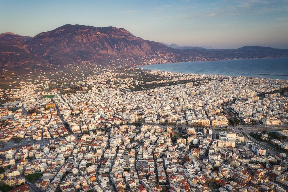 Aerial view of Kalamata, Greece