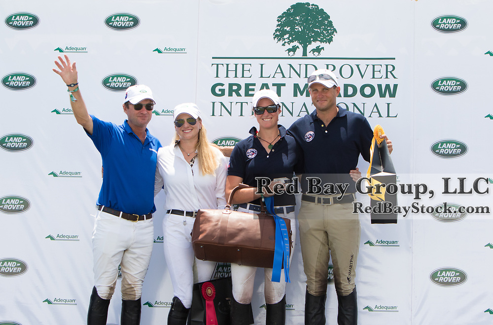 (From L to R): U.S. Pan American Eventing Team; Phillip Dutton, Marilyn Little, Lauren Kieffer and Boyd Martin, at the 2015 Land Rover Great Meadow International, at the Great Meadow Foundation in The Plains, VA on Thursday, June 18 2015.  This is the final preparatory event for the U.S. Pan American Eventing Team prior to the 2015 Pan American Games which will take place in Toronto, Canada, this July.