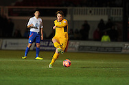 Adam Chapman of Newport county in action.FA cup with Budweiser, 1st round replay, Newport county v Braintree Town at Rodney Parade in Newport, South Wales on Tuesday 19th November 2013. pic by Andrew Orchard, Andrew Orchard sports photography,