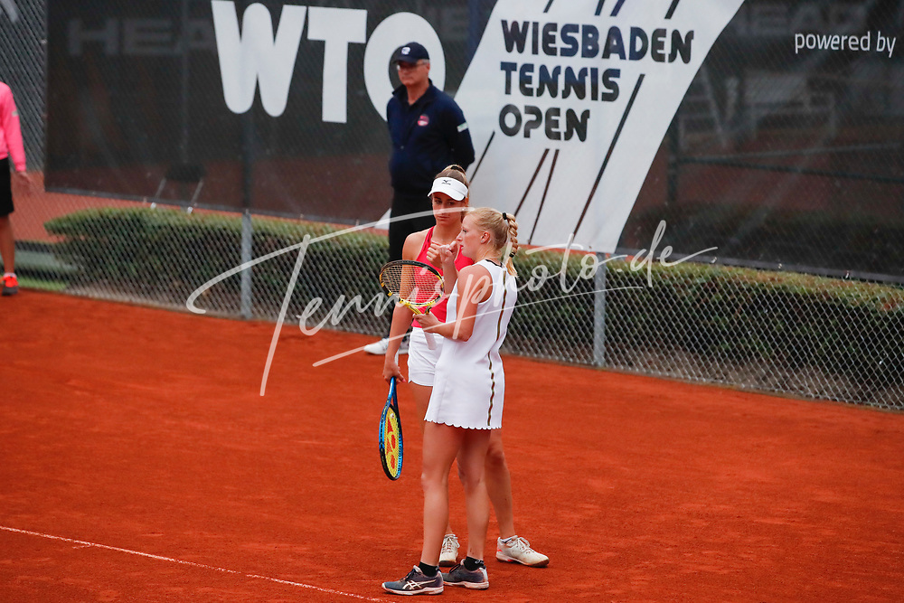 Anna Bondar (HUN), Lara Salden (BEL) - WTO Wiesbaden Tennis Open - ITF World Tennis Tour 80K, 26.9.2021, Wiesbaden (T2 Sport Health Club), Deutschland, Photo: Mathias Schulz