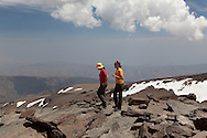 Walkers on the summit of Mulhacen