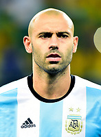 Conmebol - World Cup Fifa Russia 2018 Qualifier / <br /> Argentina National Team - Preview Set - <br /> Javier Alejandro Mascherano