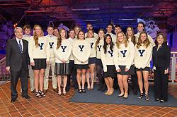 Yale Team Captains at the Blue Leadership Ball '11, Yale University Athletics. Ball and Awards Presentation, Lanman Center, Payne Whitney Gymnasium.