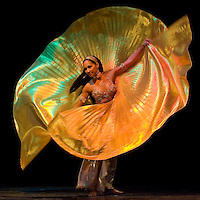 Cuban born belly dancer Amar Gamal from the Belly Dance Superstars production performs durng the First Orienthal Dance Festival.