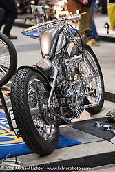 Suicide Customs Raw Naked custom Harley-Davidson Sportster at the Mooneyes Yokohama Hot Rod & Custom Show. Yokohama, Japan. December 3, 2016.  Photography ©2016 Michael Lichter.