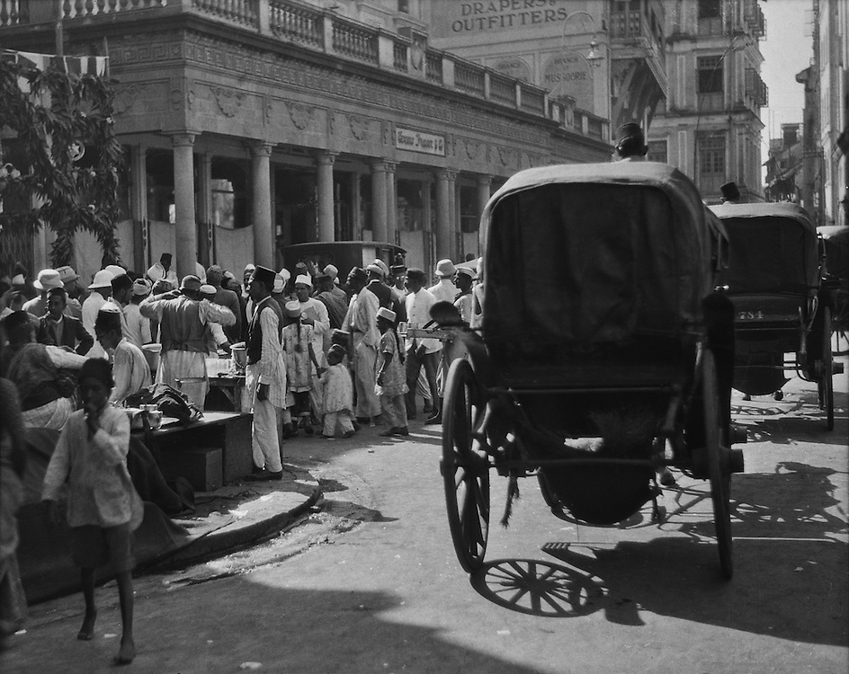 Crowds at a Mohammedan Marriage Festival, Bombay, India, 1929