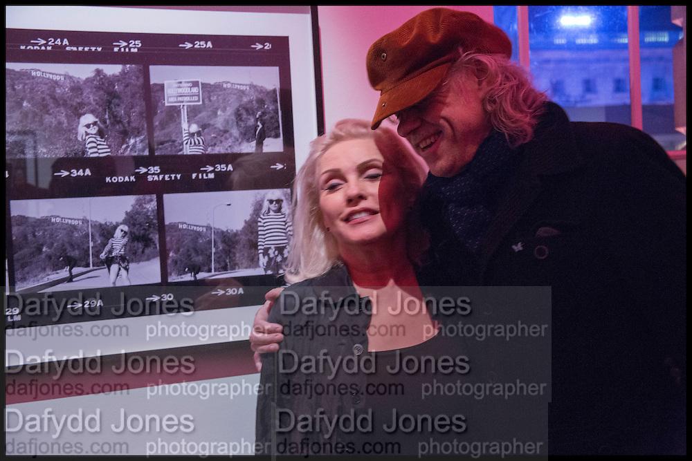 DEBBIE HARRY; SIR BOB GELDOF; , Chris Stein / Negative: Me, Blondie, and The Advent of Chris Stein / Negative: Me, Blondie, and The Advent of Punk - private view, Somerset House, the Strand. London. 5 November 2014.