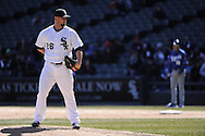 CHICAGO - APRIL 03:  Jesse Crain #26 of the Chicago White Sox pitches against the Kansas City Royals on April 3, 2013 at U.S. Cellular Field in Chicago, Illinois.  The White Sox defeated the Royals 5-2.  (Photo by Ron Vesely)   Subject: Jesse Crain
