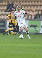 Fotball , 9. mai 2013 , Tippeligaen , Eliteserien<br /> Lillestrøm - Sogndal<br /> Per Egil Flo , Sogndal<br /> Erik Mjelde , Lillestrøm<br /> <br /> Foto: Ole Fjalsett, Digitalsport