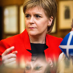 SNP Leader Nicola Sturgeon at the Andrew Carnegie Birthplace Museum