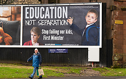 Inverclyde, Scotland, UK. 9 Mar 2021. Billboard produced by pro-Union  Scotland Matters group appears in Inverclyde. The billboard urges the First Minister Nicola Sturgeon and the SNP to focus on Education and not separation.   Iain Masterton/Alamy Live News