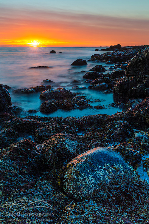 Sunrise at Odiorne Point State Park in Rye, New Hampshire.