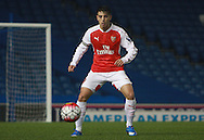 Arsenal defender Julio Pleguezuelo during the Barclays U21 Premier League match between Brighton U21 and Arsenal U21 at the American Express Community Stadium, Brighton and Hove, England on 30 November 2015. Photo by Bennett Dean.