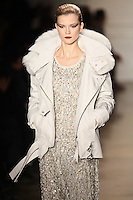 Kasia Struss walks the runway wearing Altuzarra Fall 2011 Collection during Mercedes-Benz Fashion Week in New York on February 12, 2011