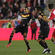 Ricardo Clark, Houston, in action during the New York Red Bulls Vs Houston Dynamo, Major League Soccer regular season match at Red Bull Arena, Harrison, New Jersey. USA. 19th March 2016. Photo Tim Clayton
