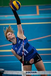 Elles Dambrink of Team22 in action during the league match Draisma Dynamo vs. Team22 on october 10, 2021 in Omnisport Apeldoorn, Apeldoorn