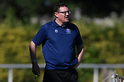 Hawke's Bay United coach Brett Angell watches from the sidelines in the Handa Premiership football match, Hawke's Bay v Auckland, Bluewater Stadium, Napier, Sunday, January 20, 2019. Copyright photo: Kerry Marshall / www.photosport.nz