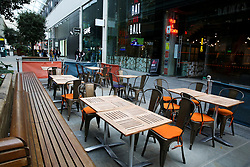 © Licensed to London News Pictures. 15/03/2020. London, UK. An empty restaurant at Westfield Stratford Shopping City amid an increased number of Coronavirus (COVID-19) cases in the UK. The government is considering banning mass gatherings due to the COVID-19 spread. 21 coronavirus victims have died and 820 cases have tested positive for the virus in the UK. 167 people across London have tested positive for the virus. Photo credit: Dinendra Haria/LNP