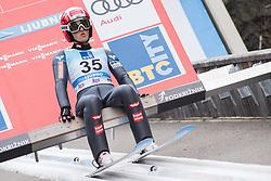 February 8, 2019 - Ljubno, Savinjska, Slovenia - Eva Pinkelnig of Austria on first competition day of the FIS Ski Jumping World Cup Ladies Ljubno on February 8, 2019 in Ljubno, Slovenia. (Credit Image: © Rok Rakun/Pacific Press via ZUMA Wire)