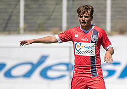 Tobias Christiansen (FC Helsingør) under træningskampen mellem FC Helsingør og HIK den 1. august 2020 på Helsingør Ny Stadion (Foto: Claus Birch).